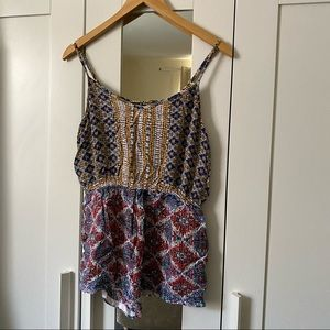 Angie 100% Rayon Romper Size M with Pockets